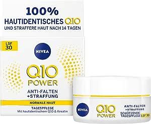 NIVEA 妮维雅 Q10 Power 防皱+紧致保护日霜 LSF 30 适用于年轻的皮肤 1 件装(1 x 50 毫升),日霜带*指数 30,面霜,24小时湿润