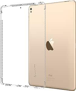 iPad Pro 12.9 2017 保护套,LUVVITT 透明抓握灵活柔软透明 TPU 橡胶后盖适用于新款 iPad Pro 2 12.9 (2017) 防震技术 - 透明