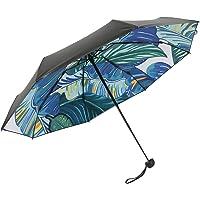 紧凑型旅行雨伞,超轻型太阳雨便携雨伞 99% 紫外线防护数字印花和乙烯基冰雹或 Harsh 8 玻璃纤维四角折叠伞伞伞伞骨