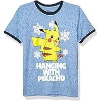 Pokemon 儿童大男孩圣诞丑 T 恤