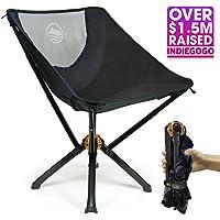 Cliq 露营椅 – 瓶子尺寸小巧户外椅 5 秒可组装 300 磅 飞机级铝