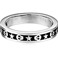 King Baby Men's Stackable Skull and Star Ring
