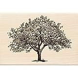 Inkadinkado 春季盛开树木装橡胶印章,适用于卡片制作和剪贴簿,1 件,10.99 厘米长 x 6.99 厘米宽