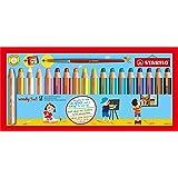 STABILO Multi-talented木质铅笔 STABILO套盒 含18种颜色的铅笔+卷笔刀+刷子