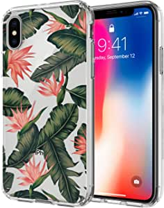 iPhone X 手机壳,Ailiber 多样式系列减震抗冲击防指纹硬质 PC 柔软 TPU 缓冲透明保护透明保护壳适用于 Apple iPhoneX iPhone 10(5.8 英寸 2017) 花色