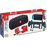 Goplay 游戲旅行包,優質硬殼采用彈道尼龍制成,附贈:兩個多游戲手機殼,布和拇指套,黑色 - 任天堂開關