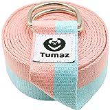 Tumaz 瑜伽带/弹力带,带可调节 D 型环扣(6 英尺/8 英尺/10 英尺,多种时尚颜色)- 适合日常拉伸、瑜伽…