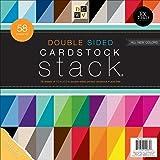 DCWV 双面卡片纸堆叠,有纹理,58 张,12 x 12 英寸 1 PS-005-00259
