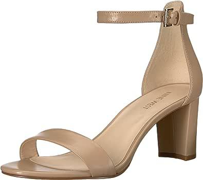 NINE WEST 女式 pruce 皮革凉鞋 天然 10.5 B(M) US