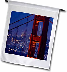 danita delimont–SAN francisco–transamerica ,金门大桥, SAN francisco , CA–US05jgs0010–JIM goldstein–旗帜 12 到 18 英寸