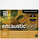 Ampersand Encausticbord 硬板板,适用于电磁和混合媒体 1.5 Inch Cradle 8x8 ENC15088