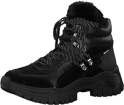 Tamaris 女式 1-1-25219-25 098 40 及踝靴,黑色,6.5 英码