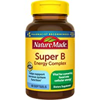 Nature Made Full Strength Super B 复合补充剂软胶囊,60粒(包装可能有所不同)