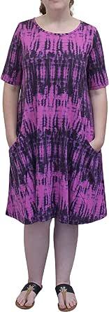Prairie 棉质女式扎染短袖棉质公主裙