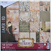 "Ciao Bella CBPM012 双面纸包 90磅 12""X12"" 包装 - La Traviata,12 种设计…"