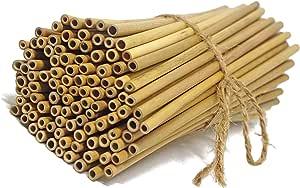 """IA Crafts 竹棒,竹草,竹桩工艺用品,手工和DIY,天然竹色,5.7-5.9英寸长 0.11""""-0.13"""" BS1"""