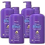 Aussie Miracle 保湿洗发水,不含对羟基苯甲酸酯,含有牛油果和荷荷巴油,适用于干发,30.4液体盎司/900毫升(4件)