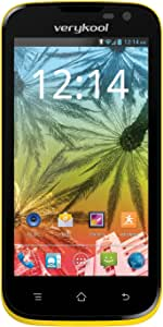 """verykool Luna Jr. s4509 4G HSPA+ 4.5"""" IPS LCD Unlocked GSM Smartphone Android 4.0 Bluetooth 1.2GHz Dual-Core 5MP WiFi USB MP3 Email AT&T TMobile 黄"""