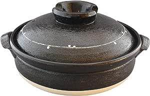 佐治陶器 万古烧 土锅 9号 (28cm) 4-5人用 一珍涂层