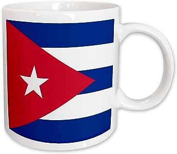 3dRose Flag of Cuba - Cuban blue stripes red triangle white star - Caribbean island country world flags - Ceramic Mug, 11-ounce (mug_158302_1)
