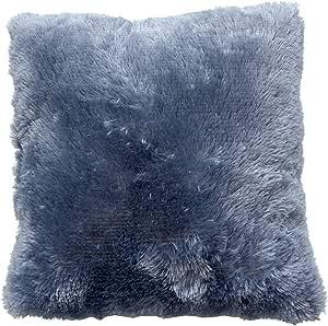 Enjoy Home, Coussin, PluchBJ040040 蓝色 40 × 40 厘米枕头 聚酯 牛仔蓝
