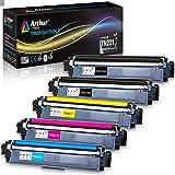 ARTHUR imaging 兼容墨盒替换件适用于 BROTHER tn221tn225(2个黑色,1青色,1黄色,1洋红色,5件装)