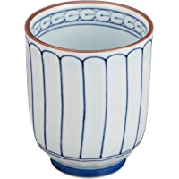 Ranchant 水杯(大) 白色 直径7.2x8.9(厘米) 菊雕山水 有田烧 日本制造