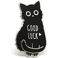 猫珐琅别针黑色猫领别针幸运挂坠