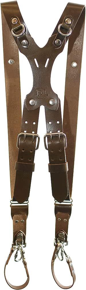 Rebel 双手工制作皮革相机胸背带,吊带和背带 RL 手工制作。 DLSR,无镜,Point & Shoot 美国制造 X大码 橄榄绿