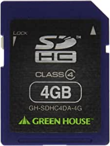 免费恢复绿色屋消除数据 附有数据复原服务SDHC卡 4GB GH-SDHC4DA-4G