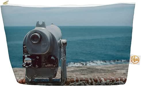 Kess InHouse Ocean View Everything Bag 锥形袋由 Nastasia Cook 出品,蓝色海岸,31.75 x 17.78 厘米 (NC1019AEP04)