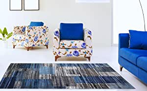 ADGO 大西洋系列 现代 抽象几何圆圈方巾 Swirls 小地毯