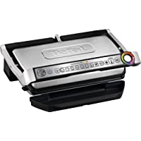 T-fal GC702 OptiGrill Stainless Steel Indoor Electric Grill with Removable and Dishwasher Safe plates T-fal GC702 OptiGrill Stainless Steel Indoor Electric Grill with Removable and Dishwasher Safe plates 银色