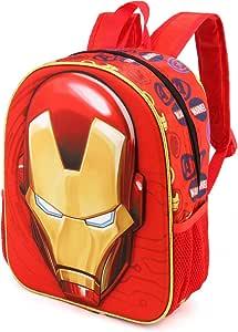 Karactermania 钢铁侠 Armour-3D 背包(小号)儿童背包,31 厘米,8.5 升,红色