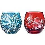 东洋佐佐木玻璃 情侣 剪子 闪耀礼物 蓝色&红色 350ml HG880-T106 2个装