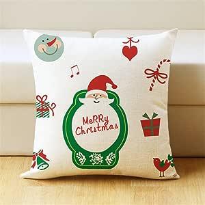 weisipu 1件套圣诞快乐系列棉麻抱枕套