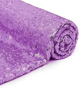 1 码亮片面料闪光网眼闪光闪光面料按码出售用于服装制作家居装饰-金色 紫色(Lavender) 2 码 SP2YardLavender