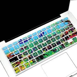 proelife 硅胶键盘皮套适用于 macbook pro 33cm 38.1cm (带带或不带 Retina 显示屏) macbook air 13英寸和 iMac Apple 无线键盘 3D-Under Water 1 pcs keyboard cover
