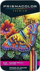 Prismacolor 高级彩色铅笔 12 支/支装/波努斯艺术胶囊