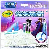 Crayola 《冰雪奇缘》2 个窗户吸附膜,变色定制窗户吸附膜,冰雪奇缘礼物,年龄5,6,7