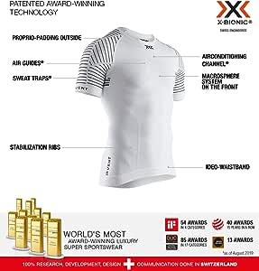 X-Bionic 男式 Invent 4.0 浅圆领短袖 T 恤