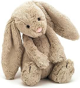 Jellycat 害羞的毛绒兔子玩具,米色,中号,12英寸(约340.19厘米)