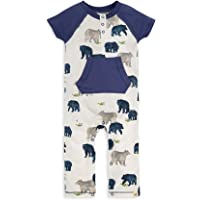 Burt's Bees Baby Organic Lap Shoulder Coverall and Knot Top Hat Set