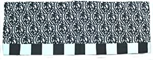 RLFisher DBA RLF Home Killian Banded Valance, Black