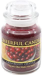 A 快乐 giver 蔓越莓橙色罐蜡烛