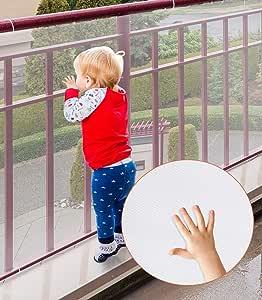 儿童*网,耐用保护儿童*室内楼梯栏婴儿床阳台,易于安装和使用儿童宠物玩具*带绳索和系带