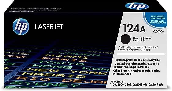 HP 惠普 Q6000A 黑色 LaserJet 硒鼓 124A(适用于LaserJet 1600 2600 2605系列 CM1015 CM1017)(新老包装随机)
