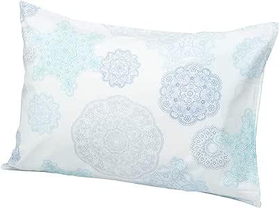 西川家居用品 枕套 ON22 德国花边 花边 中盖式 45×65cm 浅灰蓝色 2138-22919