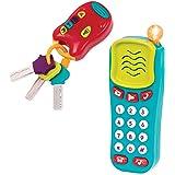 Battat 组合套装 - 灯光声音手机 + 钥匙 - 0 岁以上幼儿(2 件套)