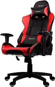 Arozzi VERONA-V2-BK 高级赛车风格游戏椅,带高靠背、斜倚、旋转、倾斜、摇椅和座椅高度调节、腰椎和头枕